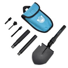 Amazon.com : Military Survival Folding Shovel and Pick with Carrying Pouch for Camping, Hiking, Backpacking, Fishing, Tactical Army Surplus Multitool, Trench Entrenching Tool, Car Emergency Shovel : Sports & Outdoors