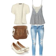 Adorable fall outfit for school