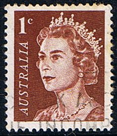 AUSTRALIA - CIRCA post stamp printed in Australia shows portrait of Queen Elizabeth II; Rare Stamps, Vintage Stamps, Stamp Values, Australian Painting, Postage Stamp Art, Stamp Printing, Queen Elizabeth Ii, Mail Art, Stamp Collecting
