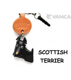 Scottish Terrier Leather Dog Earphone Jack Accessory