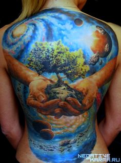 Moscow's Den Yakovlev tattoo on back