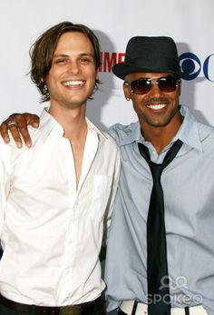 Matthew Grey Gubler and Shemar Moore.  Maybe I am weird but I think Matthew Grey Gubler is way more attractive than Shemar Moore.