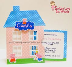 Peppa Pig Invitation by InvitesLove on Etsy: