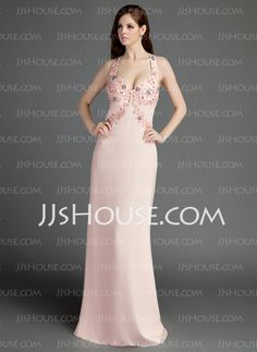 Prom Dresses - $138.99 - Sheath Sweetheart Watteau Train Chiffon Prom Dress With Beading (018015685) http://jjshouse.com/Sheath-Sweetheart-Watteau-Train-Chiffon-Prom-Dress-With-Beading-018015685-g15685