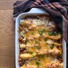 Vegiladas - Vegetarian Enchiladas: #SRC | The Wimpy Vegetarian