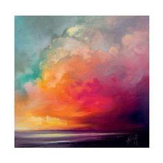 'Sunset Cumulus Study 1' Painting Print