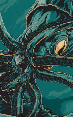 Detail from Ken Taylor's _20,000 Leagues Under the Sea_ poster (pinterest.com/pin/158540849353780970/)