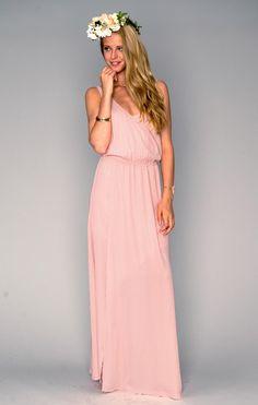 Kendall Maxi Dress ~ Frosty Pink Crisp ~ Show Me Your Mumu