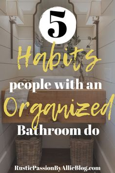 neutral Bathroom Decor 5 methods tor an organized bathroom. The decor tips will … - Modern Bathroom Cleaning, Bathroom Organization, Organized Bathroom, Bathroom Storage, Neutral Bathroom, Small Bathroom, Bathroom Ideas, Bathroom Designs, 1930s Bathroom