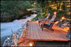 Relaxing next to the river!