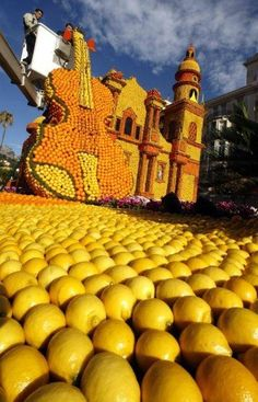 Lemon festival in Menton, southern France, (each year February and March)   www.facebook.com/loveswish