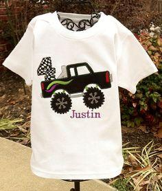 monster truck party shirt
