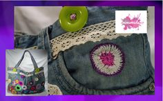 "DIY. Bolso ""Tote"" con vaqueros reciclados// Tote bag with recycled jeans"