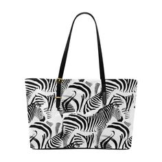 Black Duffle Bags, Tote Bag, White Zebra, Large Bags, Hand Bags, Shoulder Bags, Stripes, Amp, Black And White