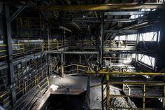 Coalmine by Julia Kaczorowska, via Behance Abandoned Factory, Coal Mining, Urban Exploration, Industrial, Construction, Explore, Behance, Building, Industrial Music