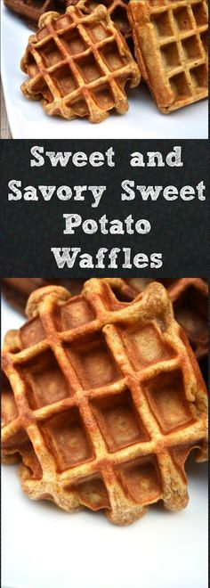 This recipe for Sweet and Savory Sweet Potato Waffles provide a deeper, more complex flavor than traditional waffles. Quick Easy Meals, Easy Dinner Recipes, Breakfast Recipes, Breakfast Ideas, Brunch Recipes, Sweet Potato Waffles, Chicken And Waffles, My Favorite Food, Favorite Recipes
