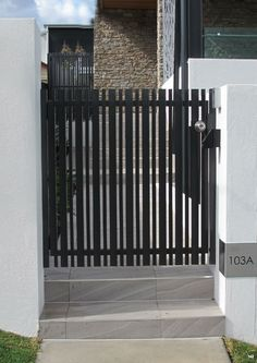 Sliding gate with vertical detail   Interior   House gate ...