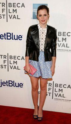 """Emma Watson ocupa o último lugar da categoria das bem mais vestidas de """"Hollywood""""."""
