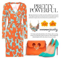 """""""Pretty Powerful. ... Statement Jewelry"""" by conch-lady ❤ liked on Polyvore featuring J.W. Anderson, Christian Louboutin, Diane Von Furstenberg, Sabbadini, statementjewelry, polyore, prettypowerful and topfashionpick"""