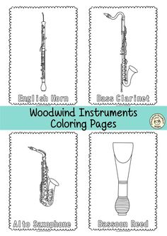 This Resource Contains 55 Musical Instrument Coloring Pages Individual Images Each Page An Picture To Color And Name Of The