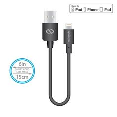 Naztech Mfi Lightning Charge and Sync USB Cable 6 inch - Black Lightning, Cable, Usb, Cabo, Lightning Storms, Lighting, Electrical Cable