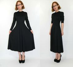 DIY This: Diane von Furstenberg Dress Black Small Vintage 1980s. $124.00, via Etsy.
