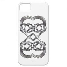 Entwined Hearts Double Infinity in Silver - iPhone iPhone 5 Covers #iPhone #iPhonecase #doubleinfinity #heart #silver