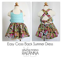 Easy Cross Back Summer Dress - The Sewing Rabbit