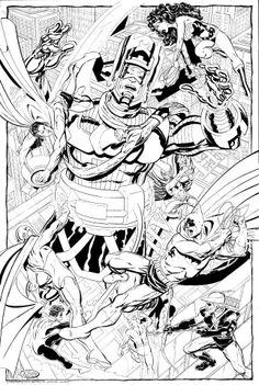 Galactus vs JLA by John Byrne *