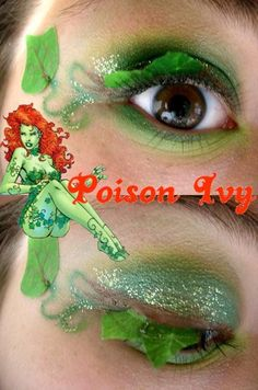 """""""Like I told Lady Freeze before I pulled her plug, 'This is a one woman show'"""" -Poison Ivy Poison Ivy Makeup Poison Ivy Halloween Costume, Poison Ivy Costumes, Up Halloween, Halloween Face Makeup, Halloween Costumes, Cosplay Costumes, Cosplay Makeup, Costume Makeup, Super Villain Costumes"""