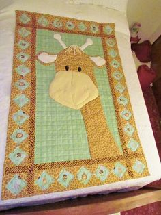 Pictures of Baby Quilts for Girls: Giraffe Baby Quilt | Baba ... : giraffe baby quilt - Adamdwight.com