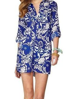 Lilly Pulitzer Captiva Tunic Cover-Up in Tide Pools