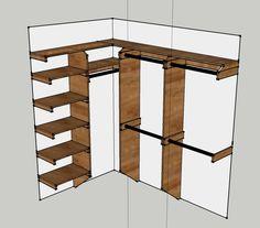 build closet organizer