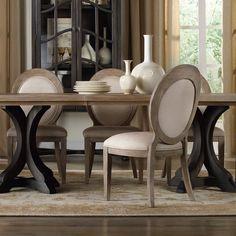 Hooker Furniture Corsica Oval Back Dining Side Chair - Set of 2 - HOOK2462