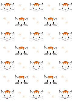 FREE printable cat pattern paper | meinlilapark More
