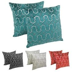 Shop for Blazing Needles 20-inch Moroccan Patterned Beaded Velvet Throw Pillows (Set of 2). Get free shipping at Overstock.com - Your Online Home Decor Outlet Store! Get 5% in rewards with Club O!