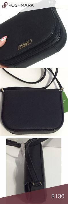 """Kate Spade Carsen Newbury Lane Kate Spade Carsen Newbury Lane • Color: Black • Material: Sophiano leather • Brand new. Never used • Tag and care card are included • No trade No hold • Plz use OFFER button for reasonable offers. I said """"YES"""" most of the time. kate spade Bags Crossbody Bags"""