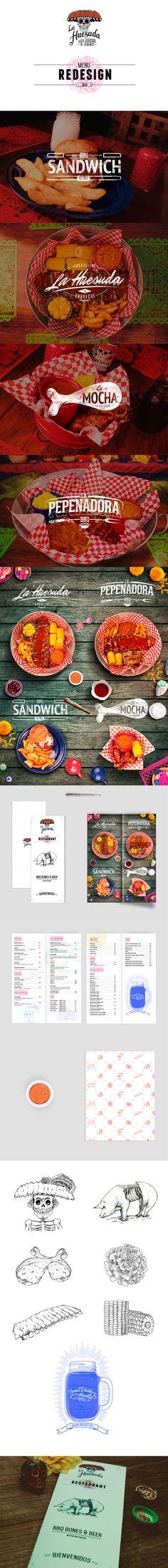 Menu Redesign by MLDTS Branding, via Behance