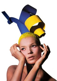 """Kate Moss in """"Confessions of a hair color junkiee"""" for US VOGUE, 2004."""