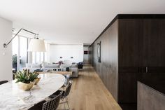 I have completely fallen in love with this apartment. Iconic mid-century furnishings in each ro...