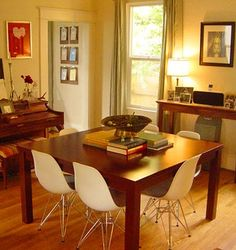 Eames shell chairs + Eiffel bases + Parsons table