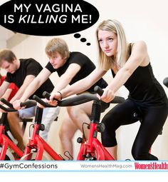 #GymConfessions : After a spin class, you're sore in all the wrong places (ouch!). If that's the case, your handlebars could be to blame.