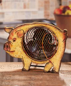 Look at this Pig Wood Fan on #zulily today!