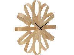 Buy Umbra Ribbon Wood Wall Clock from our Clocks range at John Lewis & Partners. Contemporary Interior Design, Modern Contemporary, Ribbon Wall, Chimney Breast, Wall Clock Online, Wood Clocks, Wood Wall, Natural Light, Art Pieces