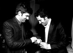 Adam Scott & Paul Rudd - wherever this is, I want to be there. Adam And Paul, Ben Wyatt, Covert Affairs, Paul Rudd, That 70s Show, Parks N Rec, Fine Men, Great Friends, New Girl