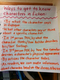 """Blog post on ideas for PLC work using observations of below, at, and above grade level students in reading and writing.  Also, """"Ways to get to know characters in fiction"""" anchor chart."""
