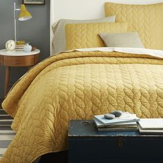 braided quilt shams horseradish west elm