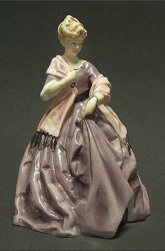 First Dance-Mauve Dress - Royal Worcester Figurine at Replacements, Ltd