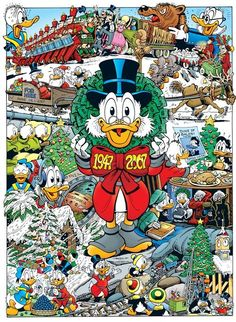 Scrooge by Don Rosa Disney Duck, Disney Mickey, Disney Art, Mickey Mouse, Don Rosa, Dagobert Duck, Mickey Christmas, Christmas Comics, Christmas Carol