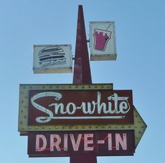 SNO-WHITE DRIVE-IN...still there when I passed through in 2012...Oakdale, CA